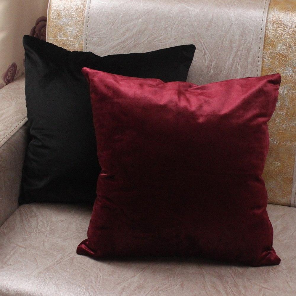 Luxury Colored Velvet Pillow Cover