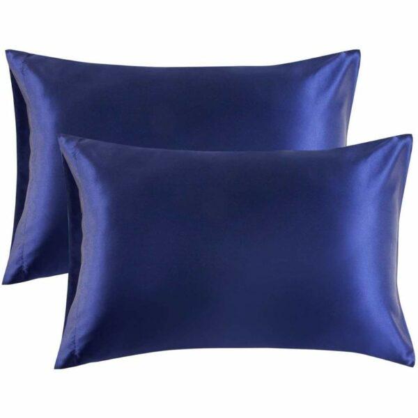 buy blue satin pillowcase