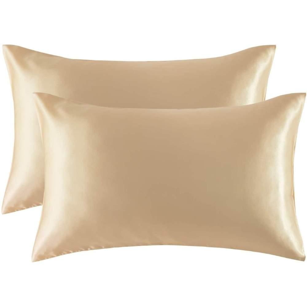 buy gold satin pillowcase