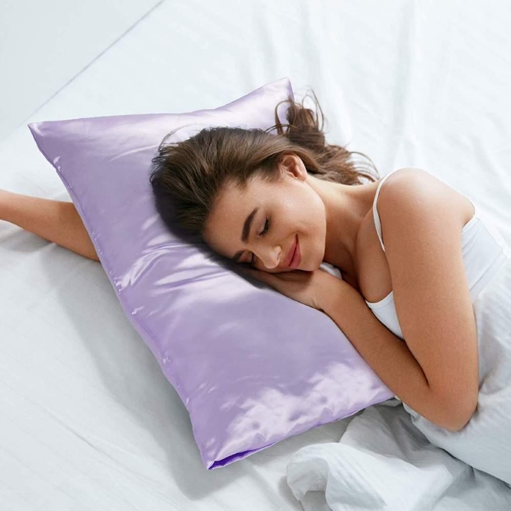 buy lavender satin pillow cases