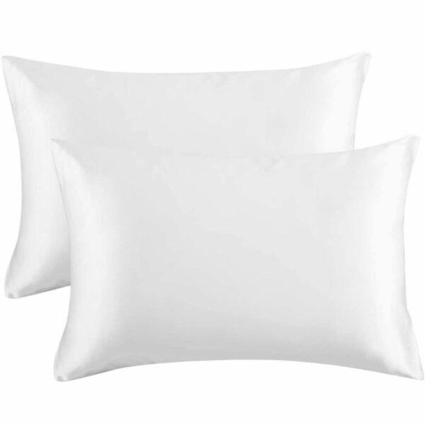 buy white satin pillowcase